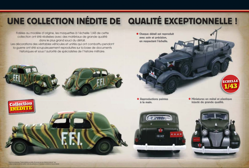 Docc collection véhicules seconde guerre mondiale Altaya 1:43