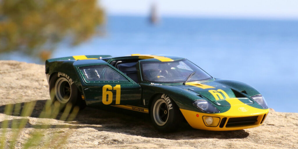 La Ford GT40 dans sa livrée Jim Click Ford Performance Collection au 1:18ème par Solido