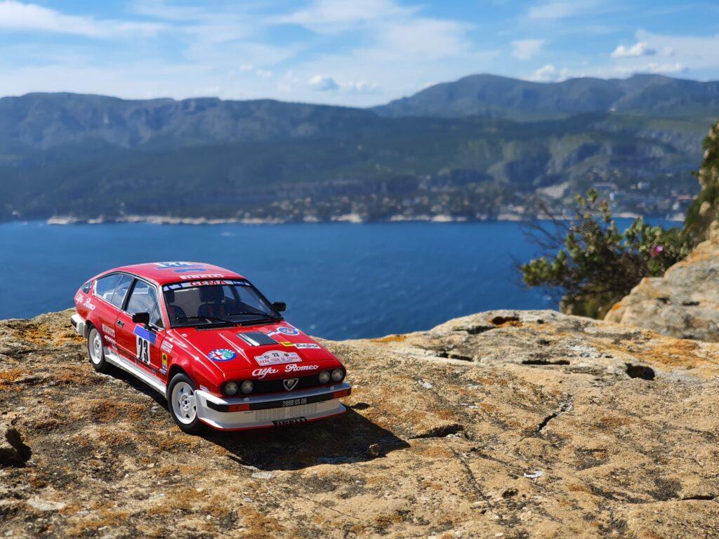 Alfa Roméo gtv6 tour de corse 1985 yves loubet 1:18ème Solido